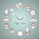 Invitation card Coffee Time Royalty Free Stock Image