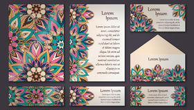 Invitation card collection. Vintage decorative elements. Islam, Royalty Free Stock Images