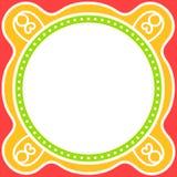 Invitation card corner hearts. Royalty Free Stock Photos