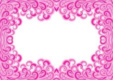 Invitation card curls border frame Stock Photo