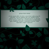 Invitation card. On dark tree background. EPS 10 Royalty Free Stock Images