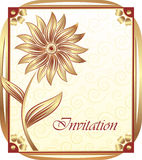 Invitation card design Stock Photos