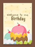 Invitation card design for birthday party. Stock Photos