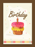 Invitation card design for birthday party. Royalty Free Stock Photos