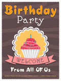 Invitation card design for Birthday Party. Royalty Free Stock Photo