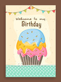 Invitation card design for birthday. Stock Images