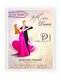 Invitation card design for dance party. Stock Photography
