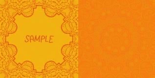 Invitation Card Design. Ornamental Orange Vector