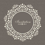 Invitation card design with space. Stock Photos