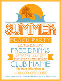 Invitation card design for Summer Beach Party. Stock Photography