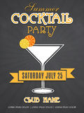 Invitation card design for summer cocktail party. Royalty Free Stock Image