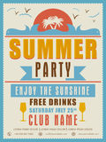 Invitation card design for Summer Party. Stock Images