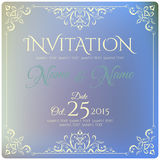 Invitation card design. Vector illustration Stock Photos