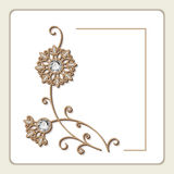 Invitation card with diamond jewelry flowers Royalty Free Stock Photography