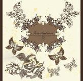 Invitation card in elegant vintage style Stock Photos