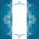 Invitation card with filigree ornaments Stock Images