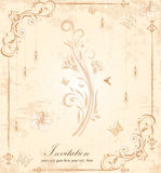 Invitation card with floral background and place for text Stock Image