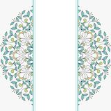 Invitation card with floral ornament. Royalty Free Stock Photos