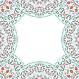 Invitation card with floral ornament. Stock Image