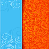 Invitation card with floral pattern. Vector eps-10. Stock Images
