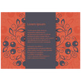 Invitation card. Floral seamless pattern. Vector illustration Royalty Free Stock Image