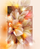 Invitation card with flower Royalty Free Stock Images