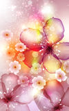 Invitation card with flower Royalty Free Stock Image