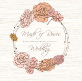 Invitation card with flower Royalty Free Stock Photography