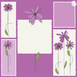 Invitation card with flowers Royalty Free Stock Photo