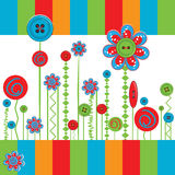 Invitation card with flowers Royalty Free Stock Image