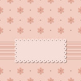 Invitation card with flowers on beige background without text Royalty Free Stock Photography