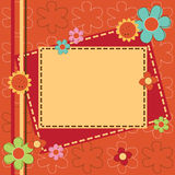 Invitation card with flowers Stock Photos