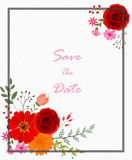 Invitation card with flowers. Illustration of Invitation card with flowers Stock Image