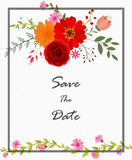 Invitation card with flowers. Illustration of Invitation card with flowers Stock Photos