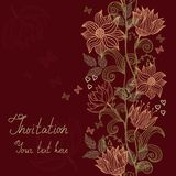 Invitation card with flowers in vector Stock Image
