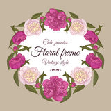 Invitation card with flowers Royalty Free Stock Photos