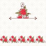 Invitation card with flowers. Vintage pattern. eps 10 Royalty Free Stock Photo
