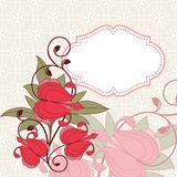 Invitation card with flowers. Vintage pattern. eps 10 Stock Photo