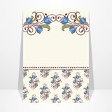 Invitation card with flowers. Vintage vector pattern Royalty Free Stock Images