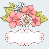 Invitation card with flowers. Vintage vector pattern Royalty Free Stock Image