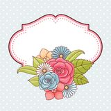 Invitation card with flowers. Vintage vector pattern Stock Photo