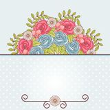 Invitation card with flowers. Vintage vector pattern Royalty Free Stock Photos