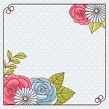 Invitation card with flowers. Vintage vector pattern Stock Photography