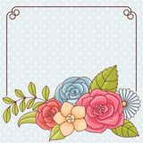Invitation card with flowers. Vintage vector pattern Royalty Free Stock Photo