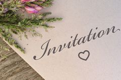 Invitation card royalty free stock images