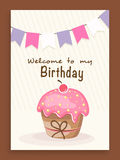 Invitation card or flyer for birthday celebration. Royalty Free Stock Image