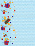 Invitation card with gifts Stock Photo