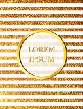 Invitation card with golden stripes Stock Photography