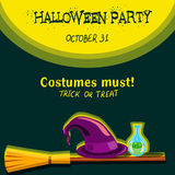 Invitation card for Halloween party Royalty Free Stock Photo