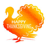 Invitation card for Happy Thanksgiving with turkey Royalty Free Stock Images